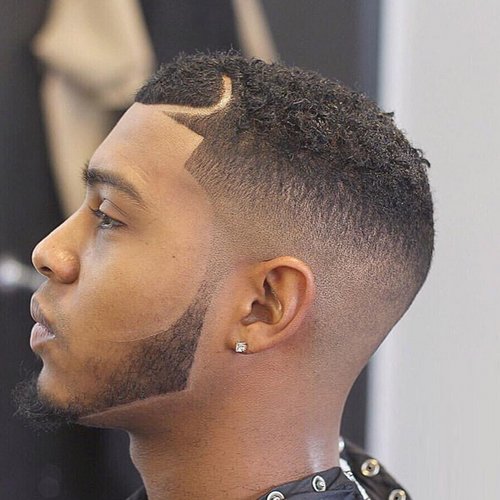 taper fade haircut for black 47 cool beard fade styles for hairstylo 2837