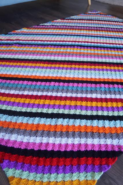 Rainbow C2C Crochet Blanket by Anorina Morris (sameliasmum.com)
