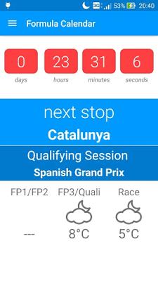 Formula Calender 2016