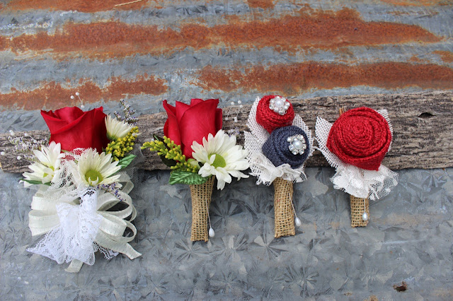 rustic corsages