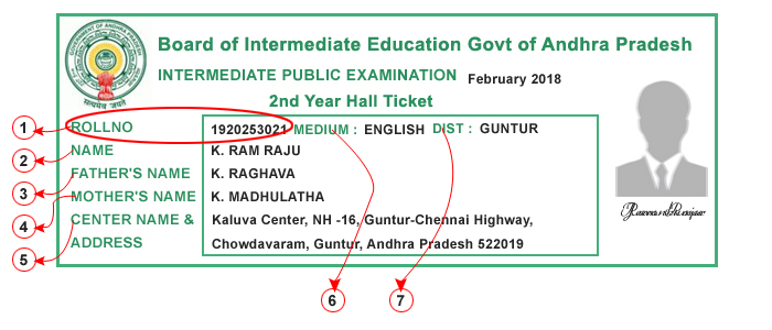 AP Intermediate Hall Tickets 2019 | Andhra Pradesh Intermediate Hall