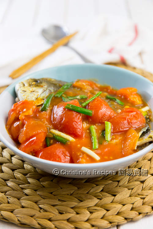 是拉差茄汁金鯧魚 Golden Pomfret in Spicy Tomato Sauce02