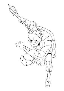 desenho para colorir e imprimir Donatello rise of the teenage mutante ninja turtles