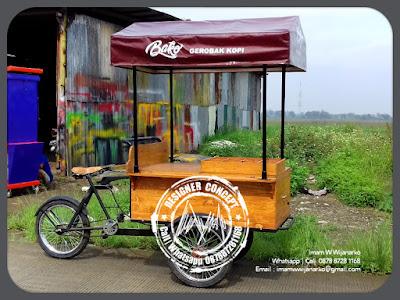 gerobak sepeda kopi bako