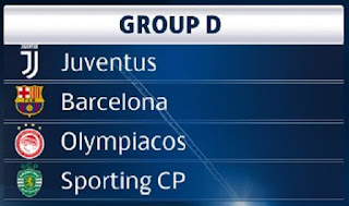 Champions League, Juventus, Sporting, Olympiakos, Calendario