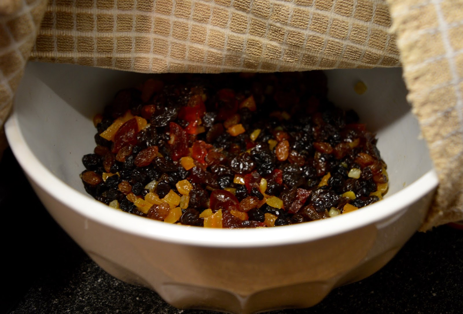 Easy Classic Christmas Cake Recipe (Inspired by Mary Berry) - soak fruit in amaretto overnight