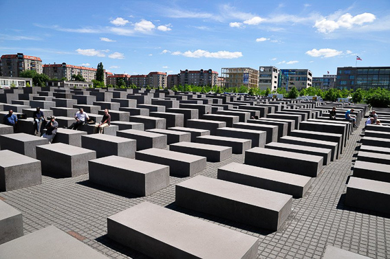 Monumento al holocausto en recuerdo a los judios en Berlin