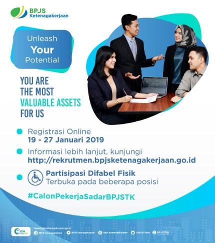 LOKER Pegawai BPJS KETENAGAKERJAAN SELURUH INDONESIA JANUARI 2019