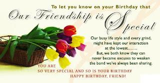 happy birthday friendship mesages