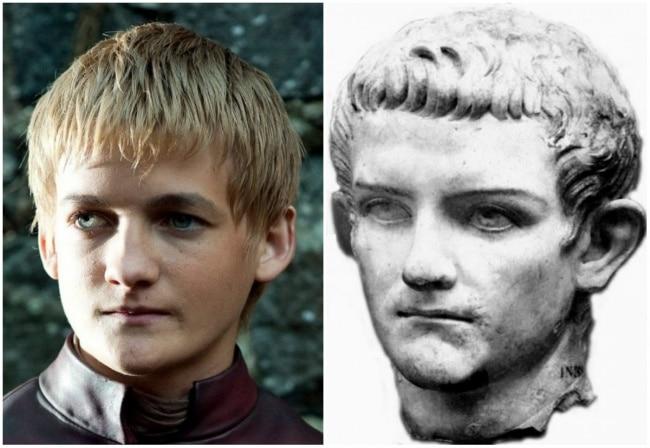 Jack Gleeson e o imperador romano Caligula