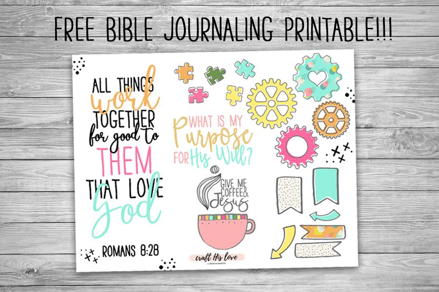 Free Bible Jouranling Printable