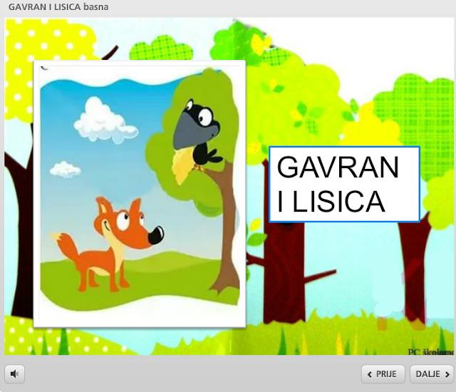 GAVRAN I LISICA - BASNA