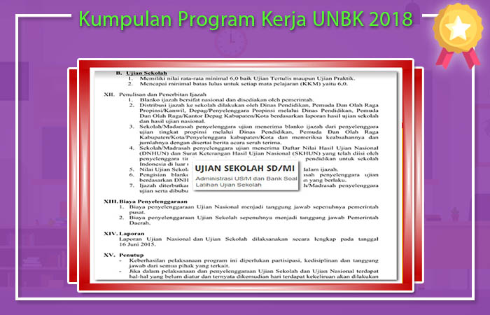 Kumpulan Program Kerja UNBK 2018