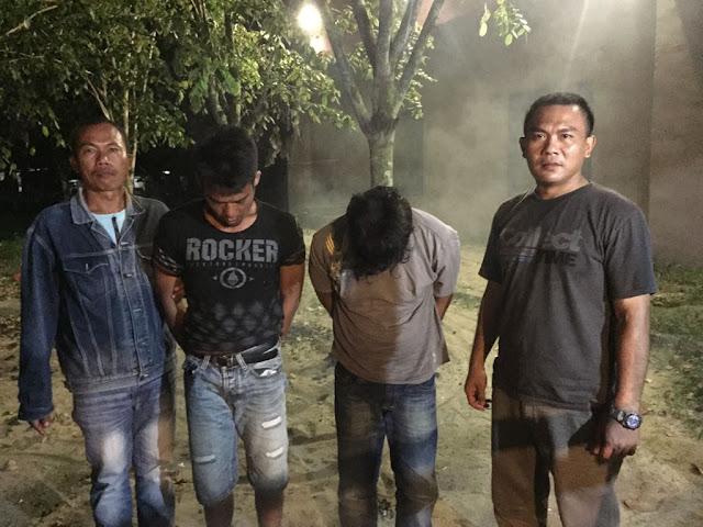 Tersangka pengedar narkoba di Tanjungbalai yang diringkus polisi.