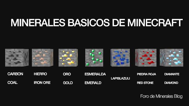minerales basicos de minecraft