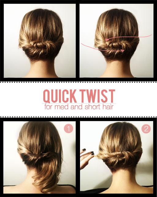 Extrêmement Double-twist : Coiffure simple, rapide et élégante pour cheveux  TB68