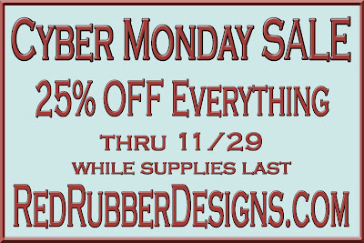 Cyber Monday Sale at Red Rubber Designs!