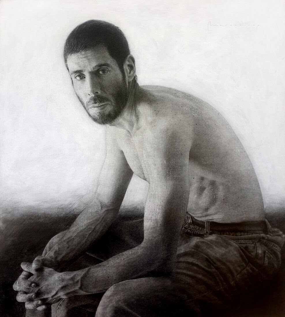 13-Marcos-Rey-Portraits-Charcoal-on-Canvas-and-Graphite-on-Paper-www-designstack-co