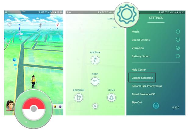 Cara mengubah Nickname Trainer di Pokemon Go