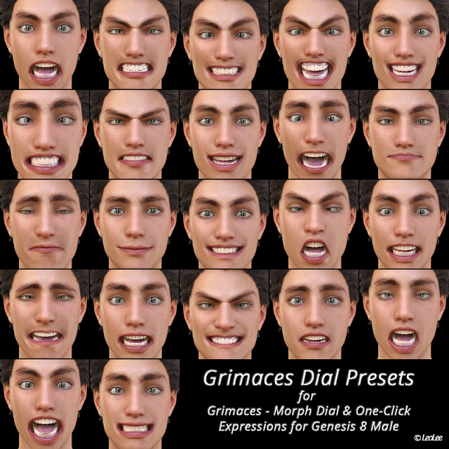 Grimaces Dial Presets for Genesis 8 Male