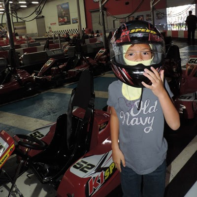 Sofia gears-up in preparation of her first K1 Speed race of the day.