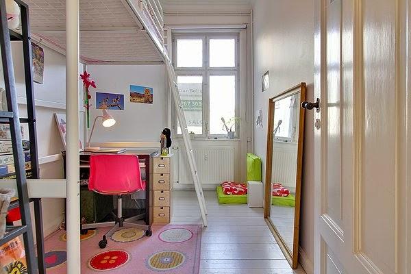 habitación infantil en altillo
