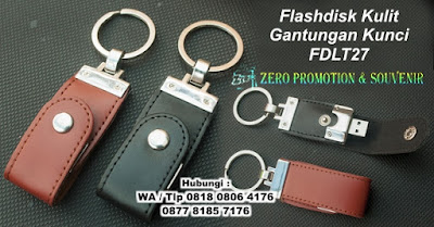 Flash Disk Kulit Police Chain FDLT27, Barang Promosi USB Kulit Gantungan Kunci, USB Keychain kancing FDLT27, Kulit Kancing Ring FDLT27