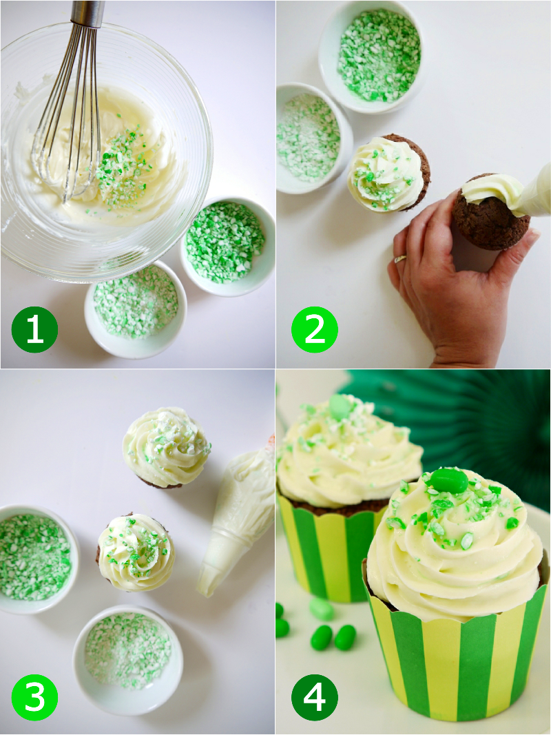 Party Recipes with Tic Tac® - Mint & Chocolate Chip Cupcakes