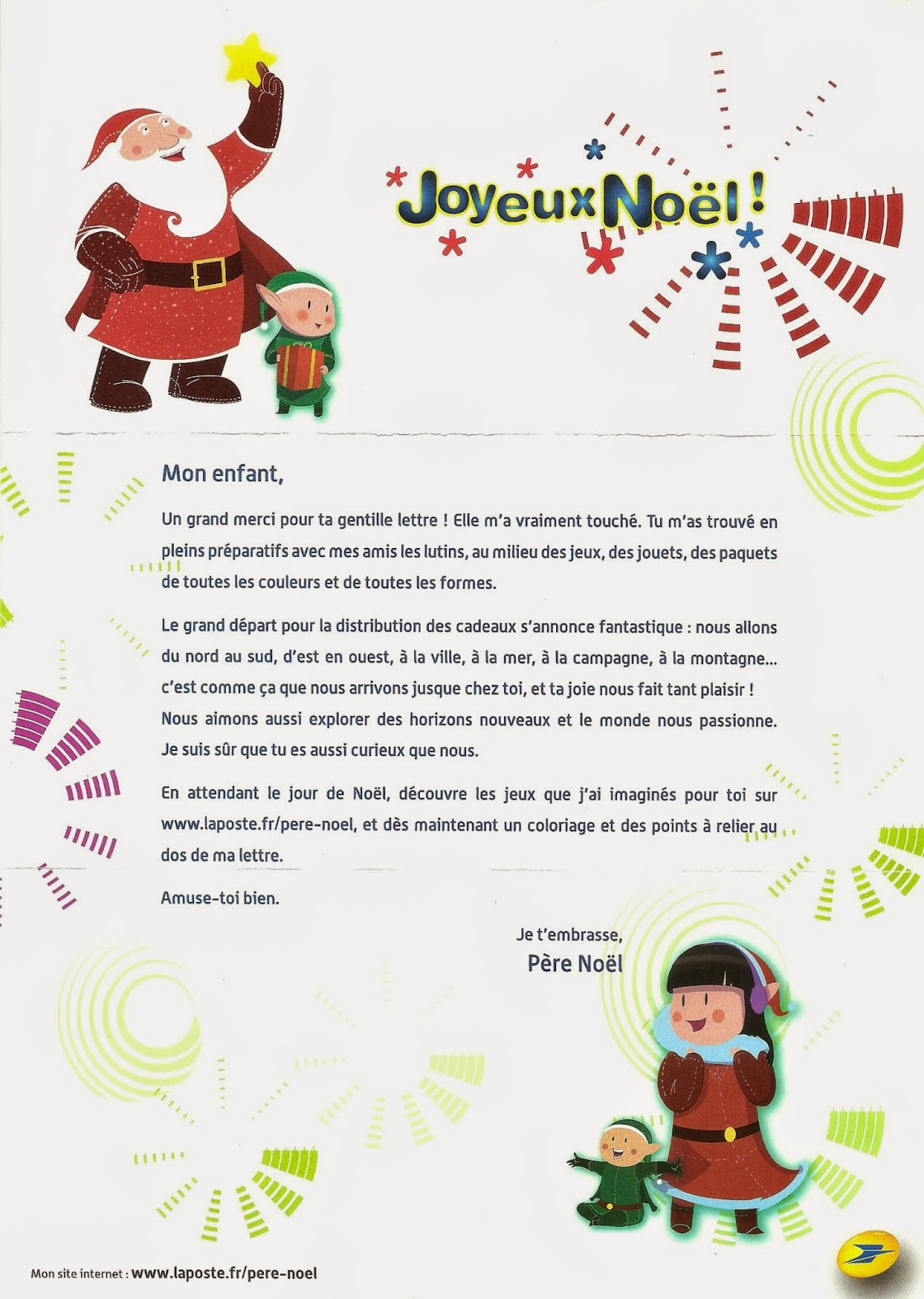 letters to santa in french interesting corner of me 2014 letter from 22073 | scan0042