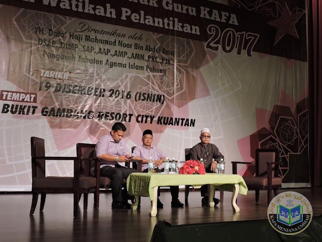 Majlis Penyambungan Kontrak Guru KAFA dan Watikah Pelantikan 2017