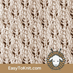 #EyeletLace Baby Leaf stitch - Easy To Knit