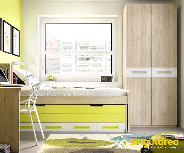 Dormitorio infantil sin armario 895 - Dormitorios infantiles valencia ...
