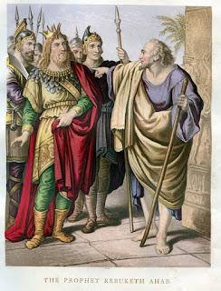 The prophet rebuketh Ahab