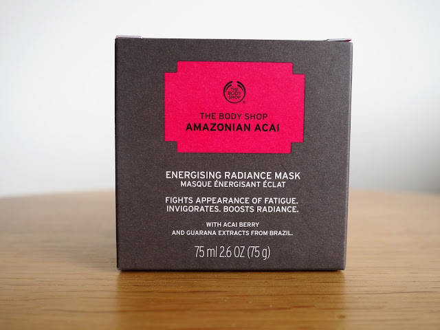 Body Shop superfood face mask in Amazonian Acai box