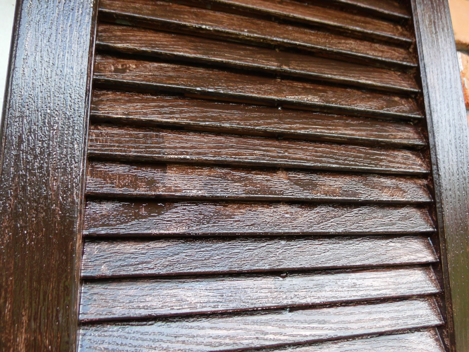Cultivate Create How To Stain Vinyl Shutters