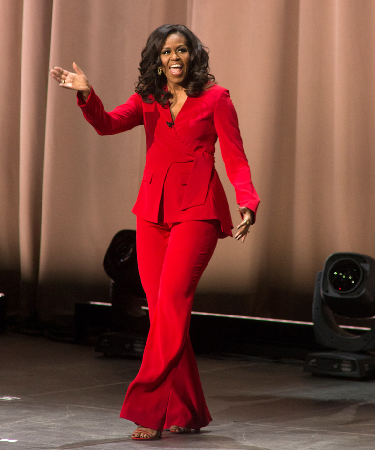 Michelle Obama book tour fashion