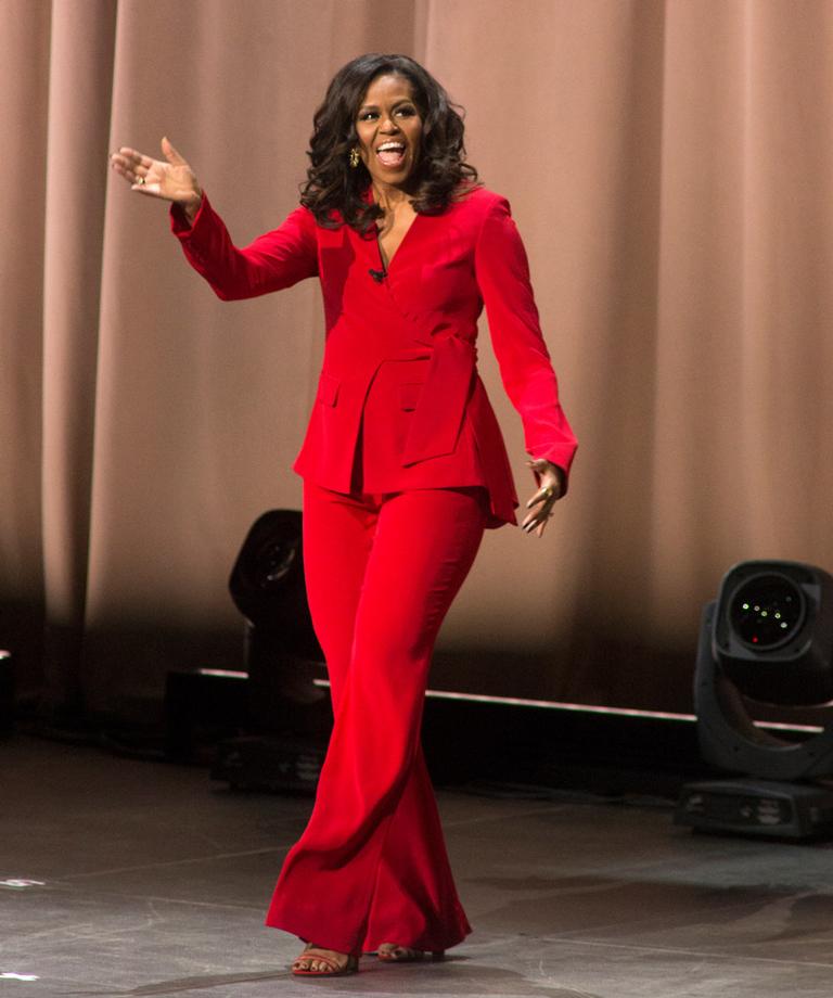 Michelle Obama book tour fashion