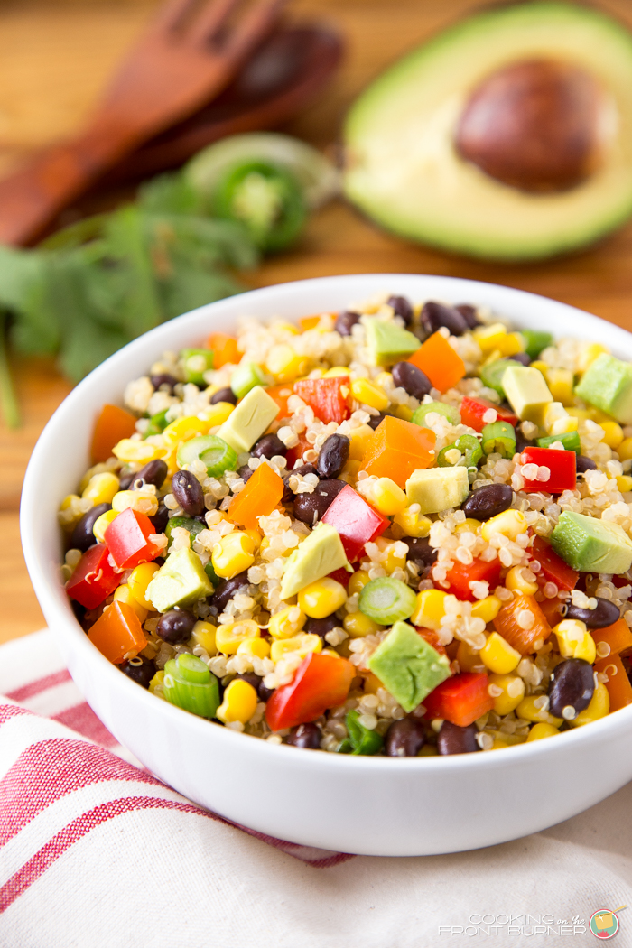 This Mexican Quinoa salad is full of fresh ingredients and has a zippy ...