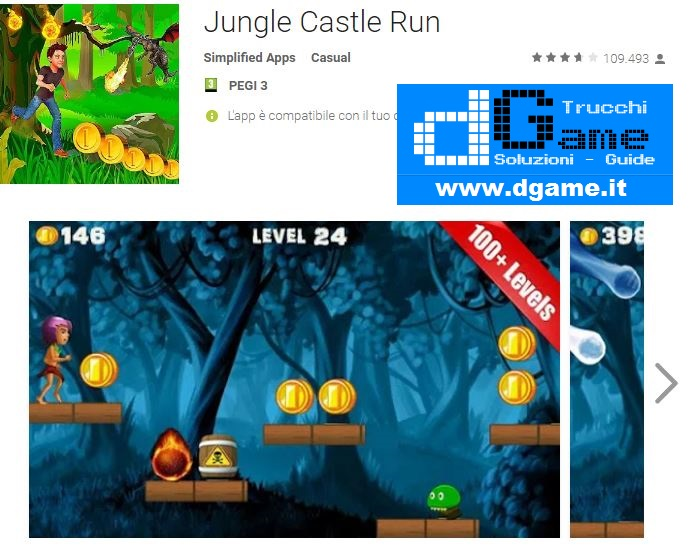 Trucchi Jungle Castle Run Mod Apk Android v2.3