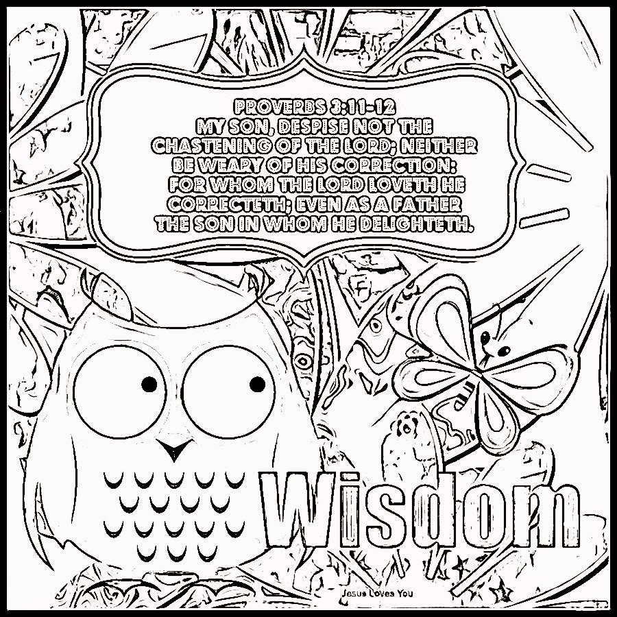 Children's Gems In My Treasure Box: Wisdom Coloring Sheets 4