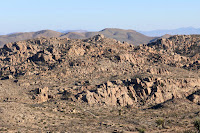 Zoomed-in view east toward Desert Queen Mine from summit of Negro Hill (4875'), Joshua Tree National Park