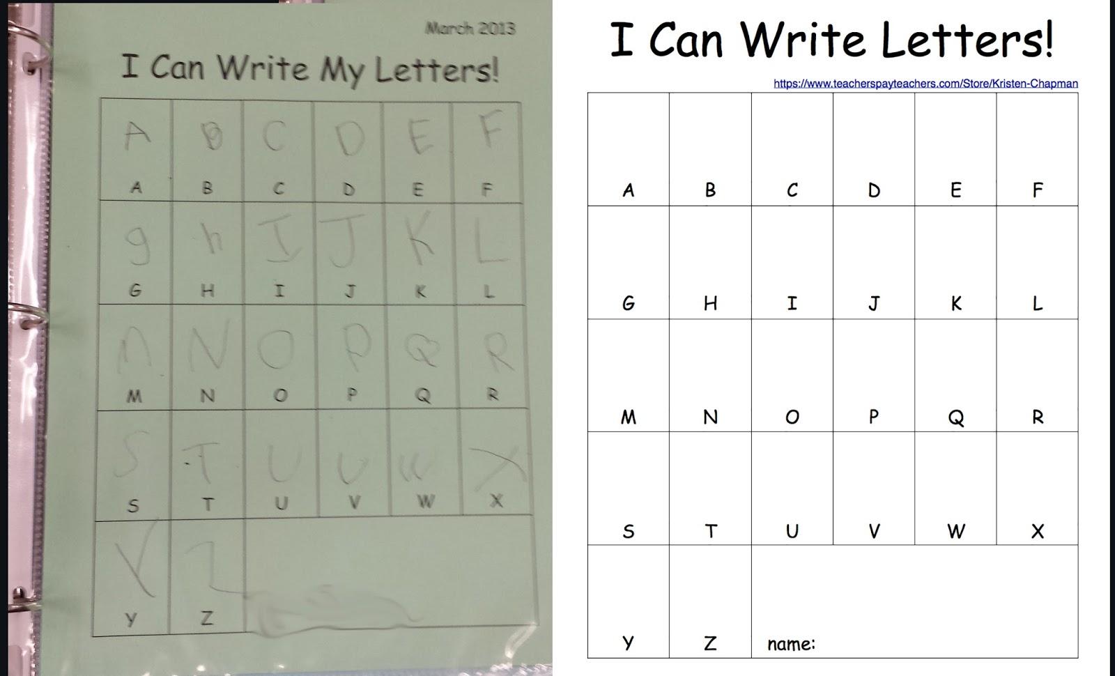 Early Childhood Scribbles Preschool Literacy Portfolio Packet