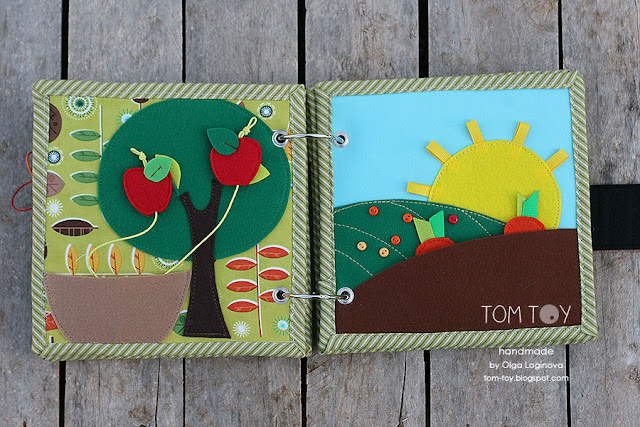 Little quiet book for Dylan, Handmade busy book by TomToy