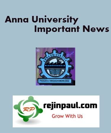 Anna University Rules of the Examination - Notification of Malpractice and Punishments