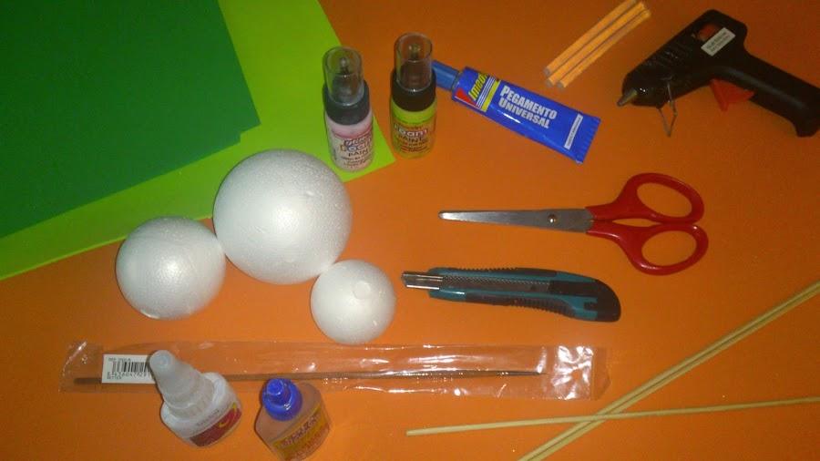 Materiales para hacer fofucha profesora