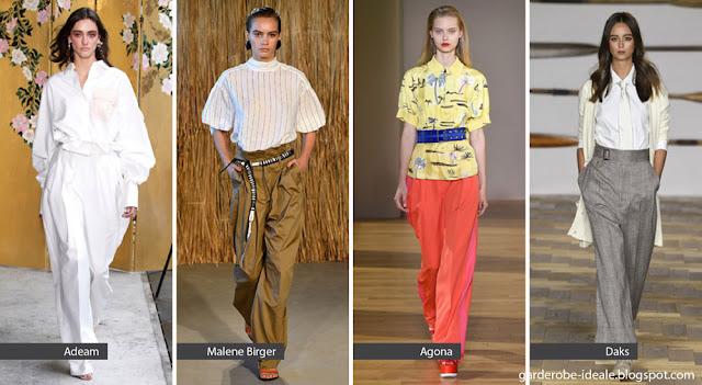 Широкие брюки на подиуме весна-лето 2018