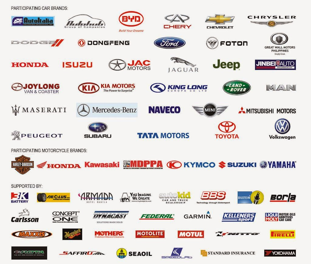 Brand Logos And Names List >> MIAS Organizer Releases Exhibitor List | Philippine Car News, Car Reviews, Automotive Features ...