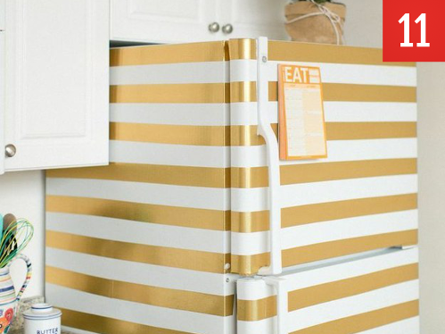 Decorate your fridge with washi tape