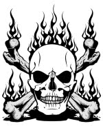 Free Images Online: skull and crossbones on fire