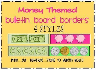 money bulletin board borders